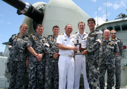 HMAS Perth Receives Gunnery Prize at RIMPAC 2012