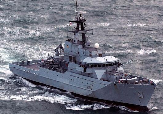 HMS Mersey, HMS Enterprise Visit Flamouth, UK