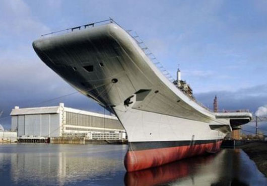 Jets Land on INS Vikramaditya for First Time