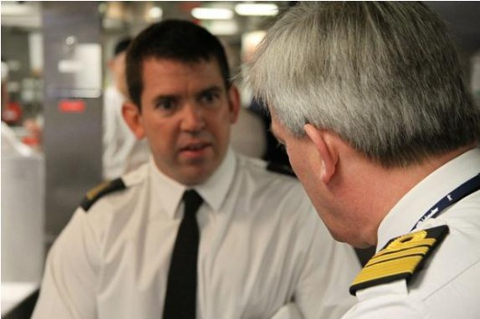 First Flag Officer Steps Onboard Royal Navy's Newest Warship