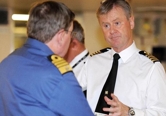 Navy's Most Senior Officer Visits RFA Mounts Bay