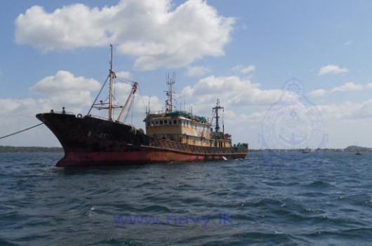 Sri Lanka Navy Apprehends Two Chinese Fishing Trawlers Engaged in Illegal Fishing