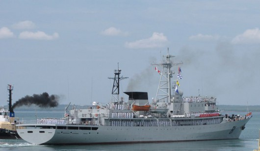 Chinese Navy Training Vessel Arrives at French Polynesia