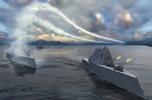 USA Presenting Zumwalt Class Destroyer SITREP